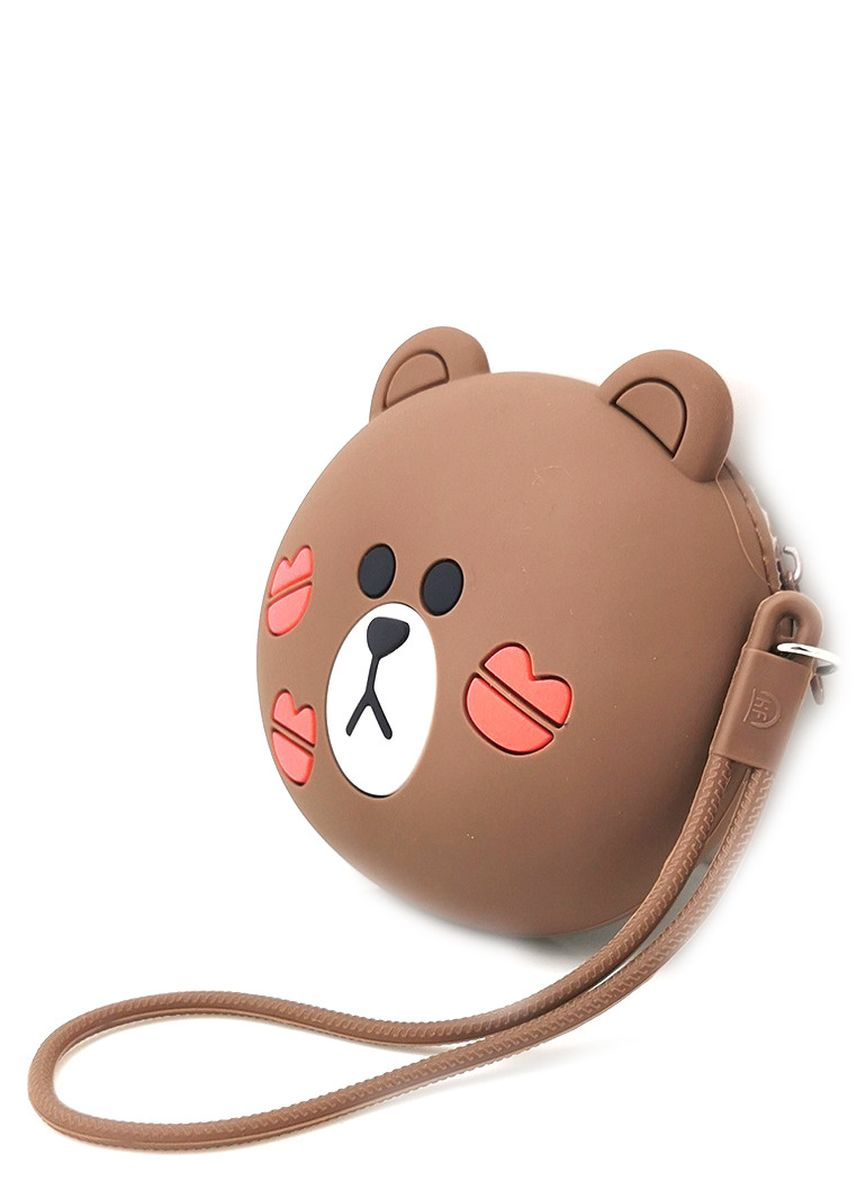 Brown color Sling Bags . Gykaco Dompet & Clutch Wanita - Bear - Fashion Wallet & Clutch (Import) -