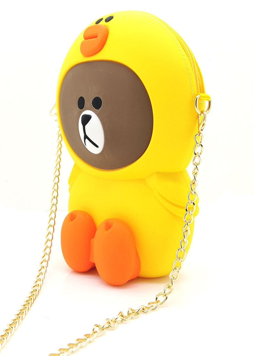 Yellow color Sling Bags . Gykaco Tas Selempang Wanita - Yellow Bear - Fashion Sling Bag (Import) -
