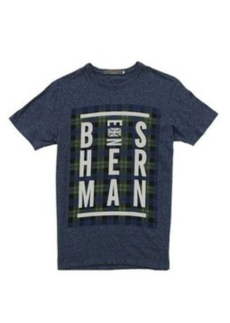 Grey color T-Shirts and Polos . Ben Sherman Round Neck Shirt -