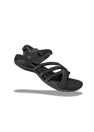 Black color Sandals and Slippers . Krooberg Lady 3X Outdoor Sandals - Black/Gray -
