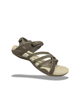 Khaki color Sandals and Slippers . Krooberg Lady 3X Outdoor Sandals - Khaki/Mocha -