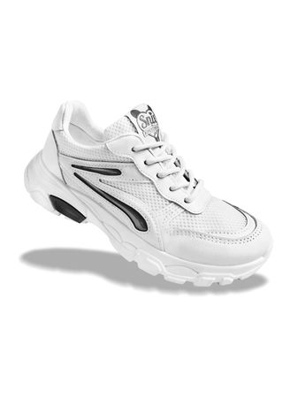 Black color Casual Shoes . Krooberg Snix Outdoor Shoes - White/Black -