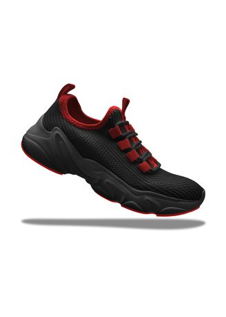 Red color Casual Shoes . Krooberg Nitro Outdoor Shoes - Black/Red -