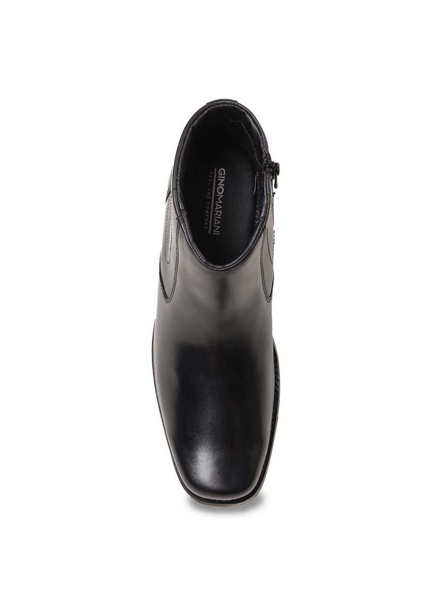 Black color Boots . Gino Mariani Dego - Men's Formal Shoes -