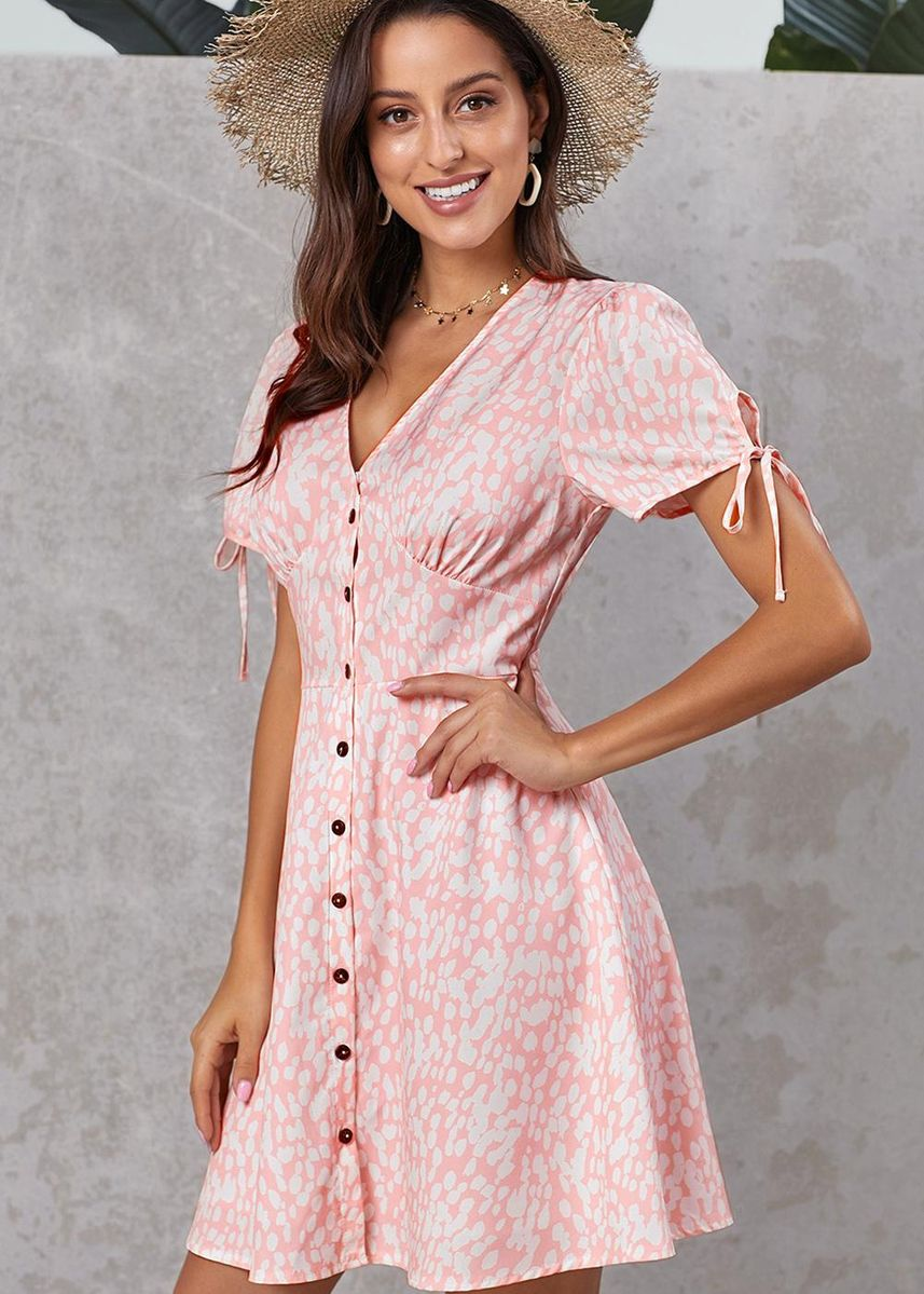 Pink color Dresses . Women's Style Wear Valentina Dress -