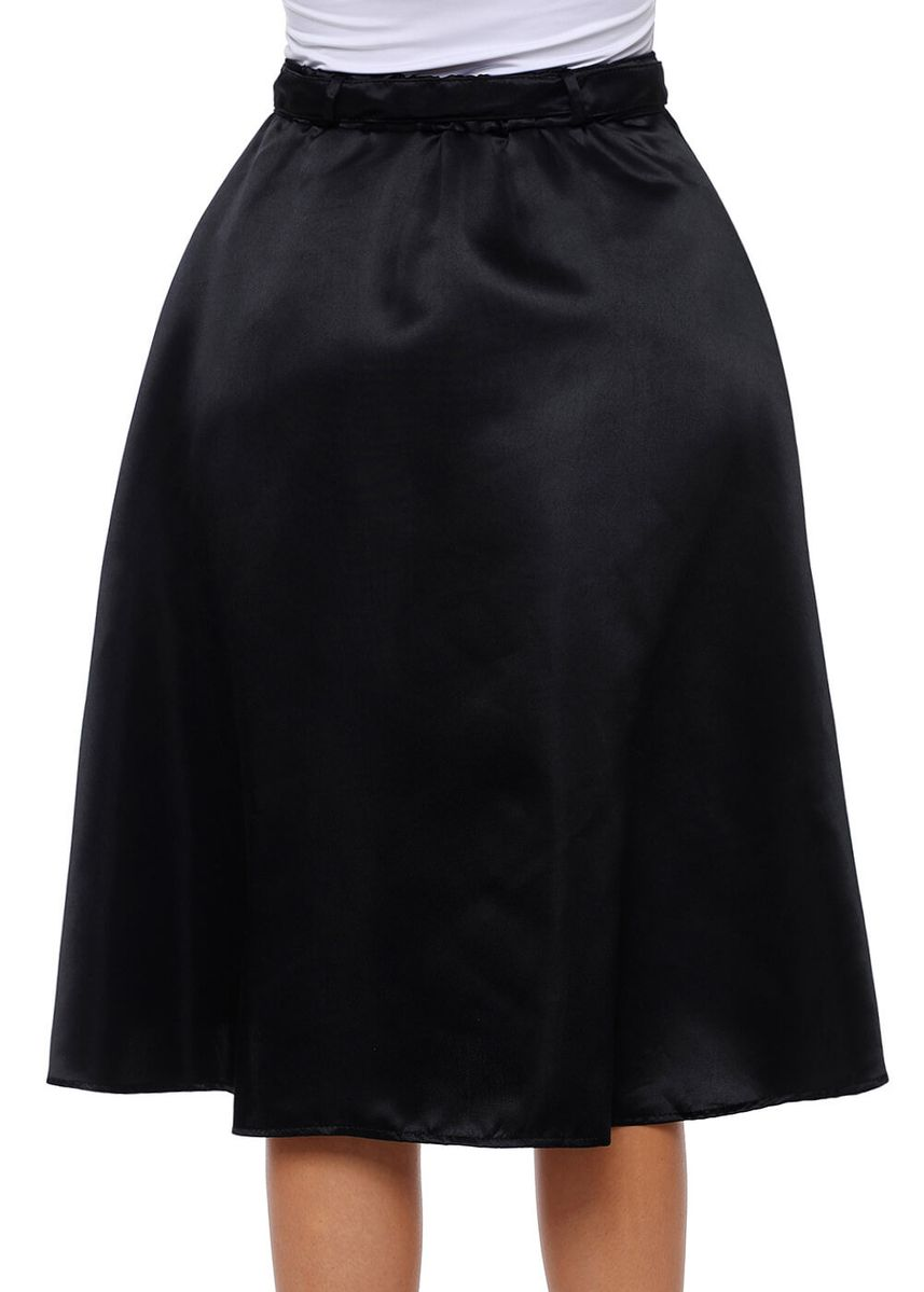 Black color Skirts . Elegant Retro Style Buttons Front Flared Midi Skirt -