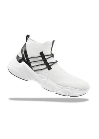 White color Casual Shoes . Krooberg Shox-2 Men's Outdoor Shoes -