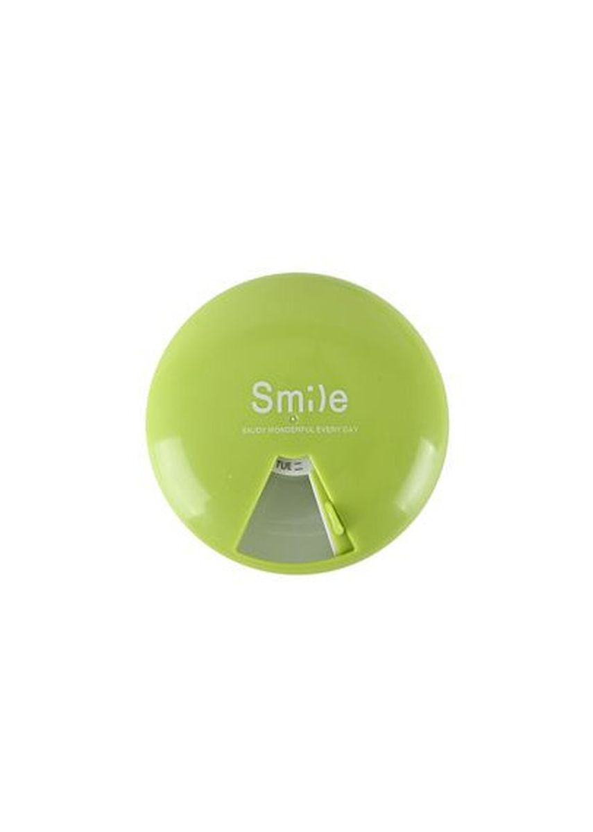 Green color Storage . Timeless Manila Weekly Pill Case Rotating Disk Medication Reminder -