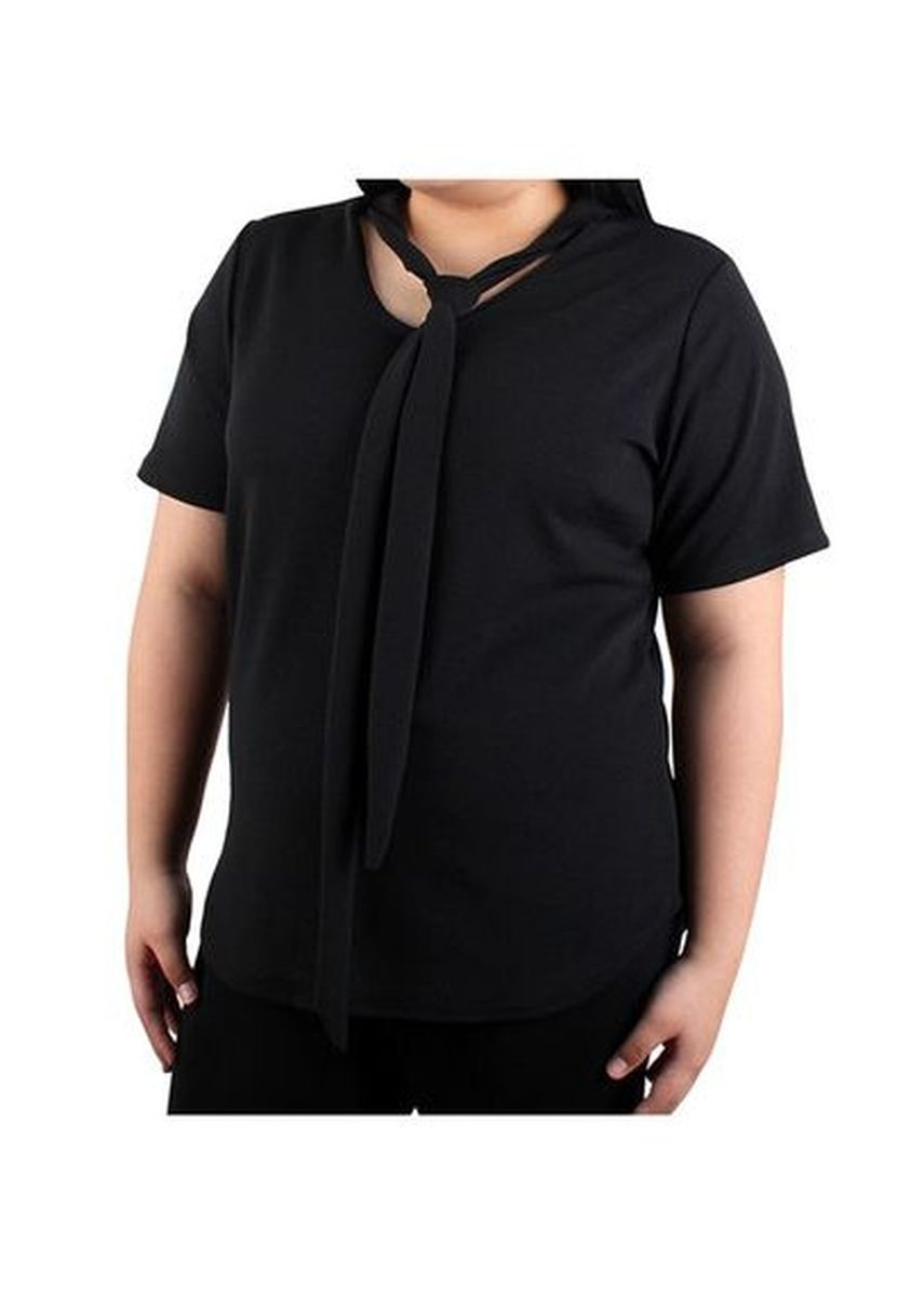 Black color Tops and Tunics . Timeless Manila Pandora Blouse With Tie -