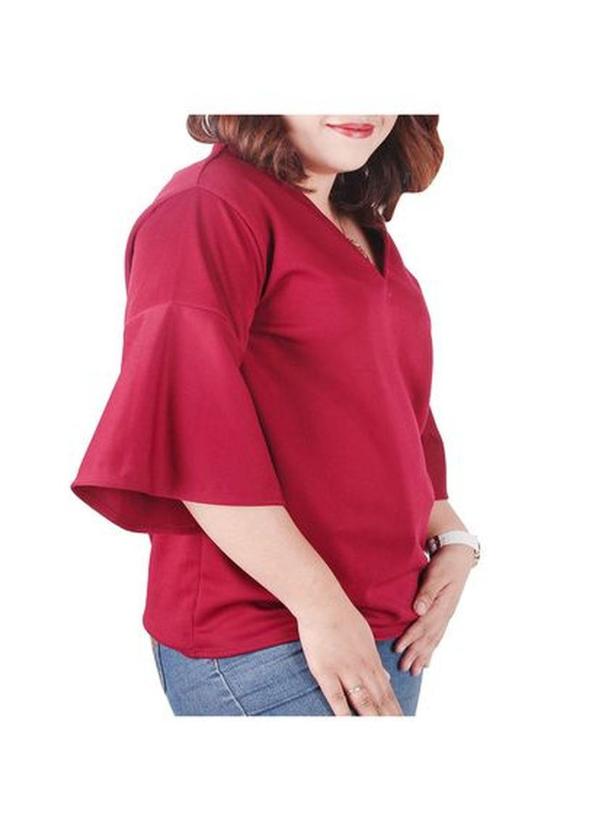 Maroon color Tops and Tunics . Timeless Manila Xenia Top -