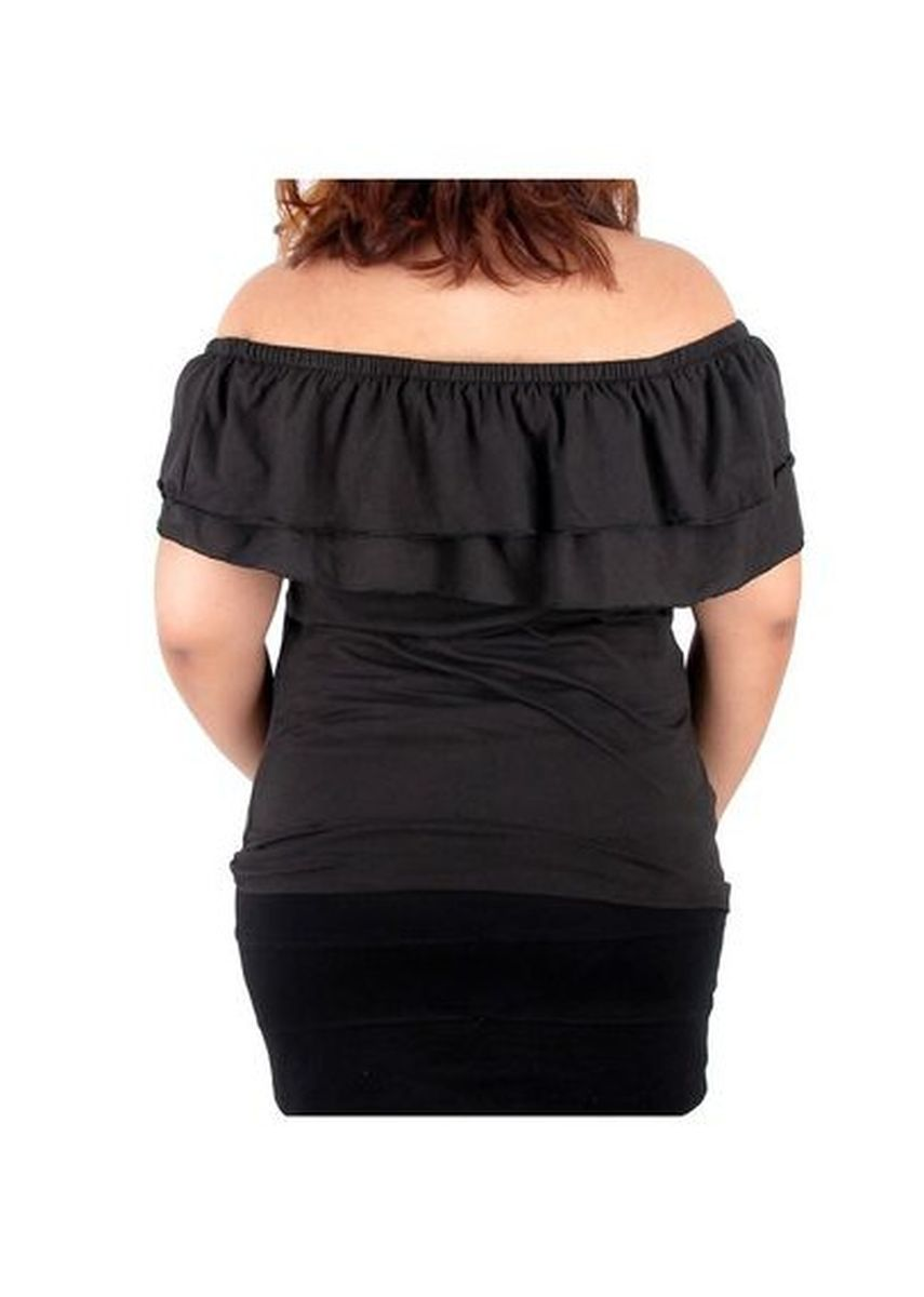 Black color Tops and Tunics . Timeless Manila Curve Andrea Laced Off-Shoulder Top -