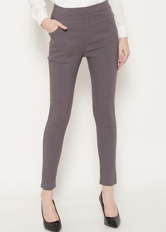 Grey color Trousers . SIMPLICITY Jegging Pants -