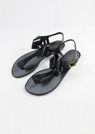Black color Sandals and Slippers . Melissa Solar III Sandals  -