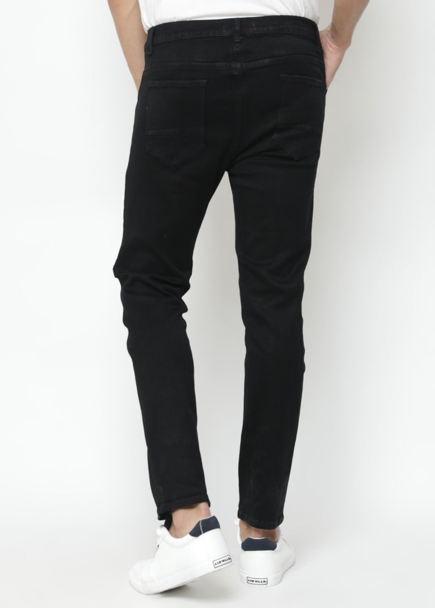 Black color Jeans . Nuber Celana Panjang Slim Fit Stretch Soft Jeans Pria Hitam - Amethyst -