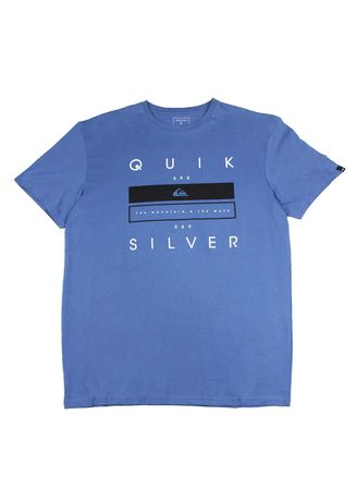Light Blue color T-Shirts and Polos . Quiksilver Men's Shirt -