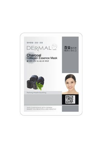 No Color color Masks . Dermal Charcoal Collagen Essence Mask -