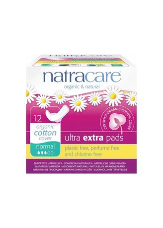 White color Personal Care . Natracare Ultra Extra Pads Normal -