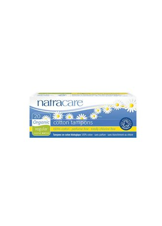 White color Personal Care . Natracare Digital Cotton Tampons Reguler 20s -