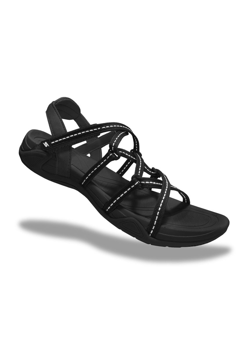 Black color Sandals and Slippers . Krooberg Lady 2X Outdoor Sandals -