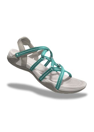 Cyan color Sandals and Slippers . Krooberg Lady 2X Outdoor Sandals -