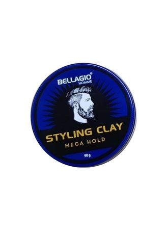 Tidak Berwarna color Styling Rambut . Bellagio Homme Styling Clay Mega Hold 90gr -