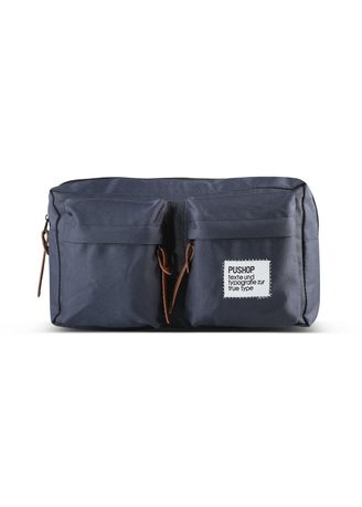 Biru Dongker color Tas Tote . Waistbag Pria Pushop Double Pocket -