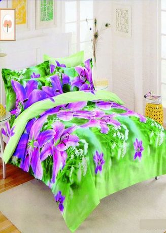 Green color Bedroom . Celina Home Textiles 3 In 1 Single 36 x75 Cotton Bed Sheet Set Premium Quality BS04-36 -
