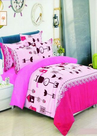 Multi color Bedroom . Celina Home Textiles 3 In 1 Single 36 x75 Cotton Bed Sheet Set Premium Quality BS19-36 -