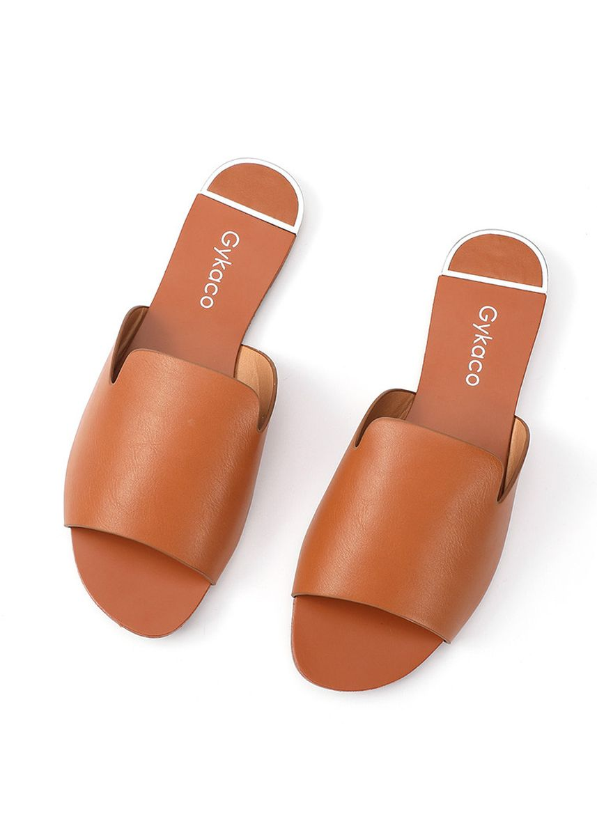 Brown color Sandals and Slippers . GYKACO Sandal Wanita - Ariel - Fashion Sendal (Import) -