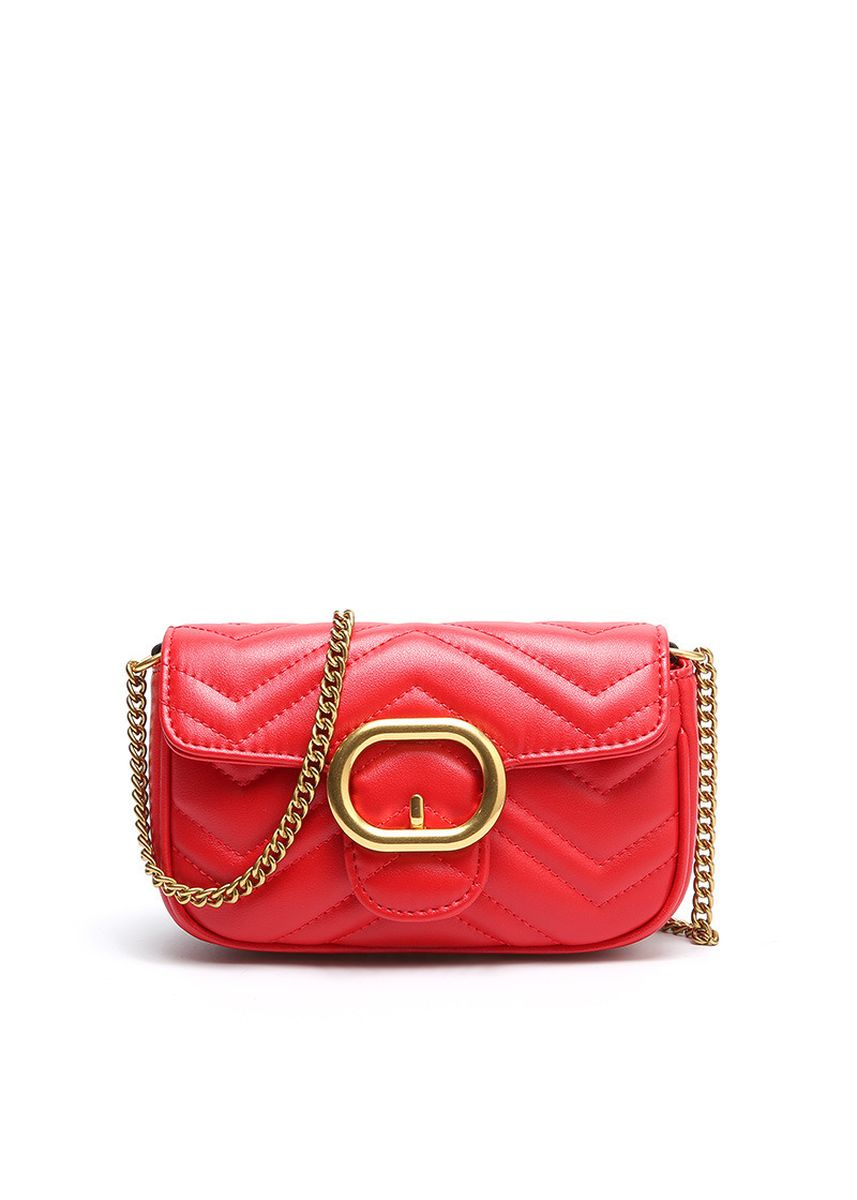 Red color Sling Bags . Women's Leather Chain Shoulder Crossbody Sling Bag -