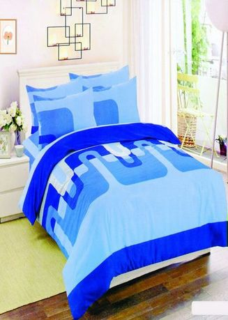 Blue color Bedroom . Celina Home Textiles 3 In 1 Double 54x75 Cotton Bed Sheet Set Premium Quality BS11-54 -