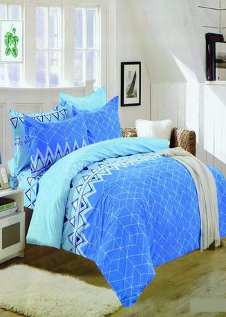 Blue color Bedroom . Celina Home Textiles 3 In 1 Double 54x75 Cotton Bed Sheet Set Premium Quality BS12-54 -