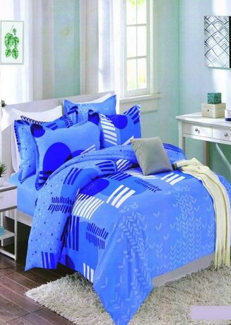 Blue color Bedroom . Celina Home Textiles 3 In 1 Double 54x75 Cotton Bed Sheet Set Premium Quality BS13-54 -