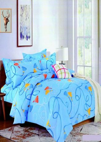 Blue color Bedroom . Celina Home Textiles 3 In 1 Double 54x75 Cotton Bed Sheet Set Premium Quality BS14-54 -