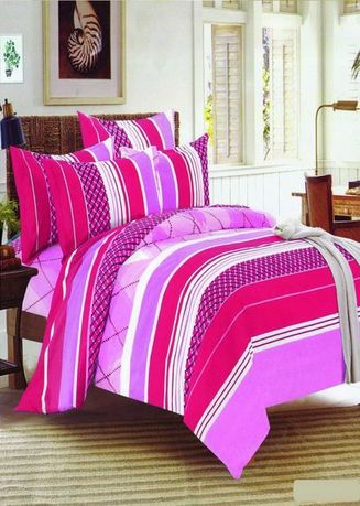 Pink color Bedroom . Celina Home Textiles 3 In 1 Double 54x75 Cotton Bed Sheet Set Premium Quality BS16-54 -
