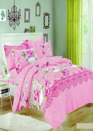 Pink color Bedroom . Celina Home Textiles 3 In 1 Double 54x75 Cotton Bed Sheet Set Premium Quality BS17-54 -