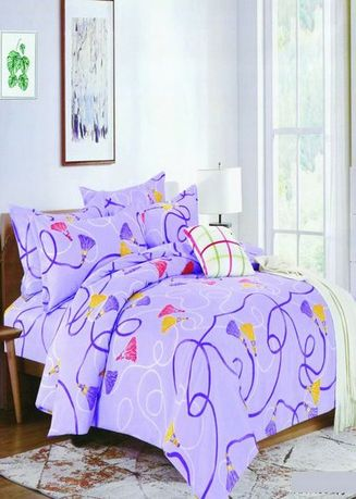 Violet color Bedroom . Celina Home Textiles 3 In 1 Double 54x75 Cotton Bed Sheet Set Premium Quality BS21-54 -