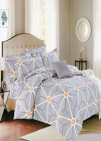 Multi color Bedroom . Celina Home Textiles 3 In 1 Double 54x75 Cotton Bed Sheet Set Premium Quality BS22-54 -
