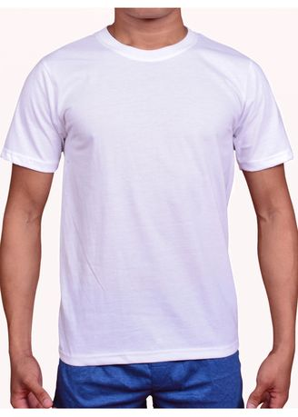 White color T-Shirts and Polos . Walker Classic Round Neck Shirt -