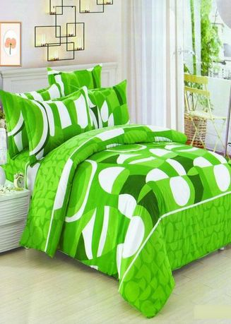 Green color Bedroom . Celina Home Textiles 3 In 1 Queen 60x78 Cotton Bed Sheet Set Premium Quality BS06-60 -