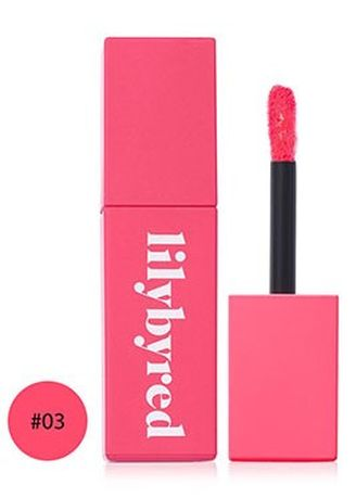 Pink color Lips . Lilybyred Bloody Liar Coating Tint 03 -