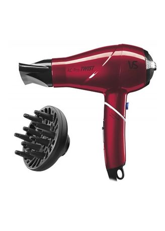 Red color Brushes . Vidal Sassoon AC Pro Ionic Twist Dryer -