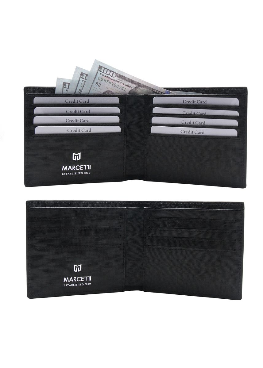 Black color Wallets . Marcetti Classic Short Wallet -
