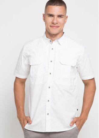 White color Casual Shirts . Emba Classic-Aldren Men's Shirt in White -