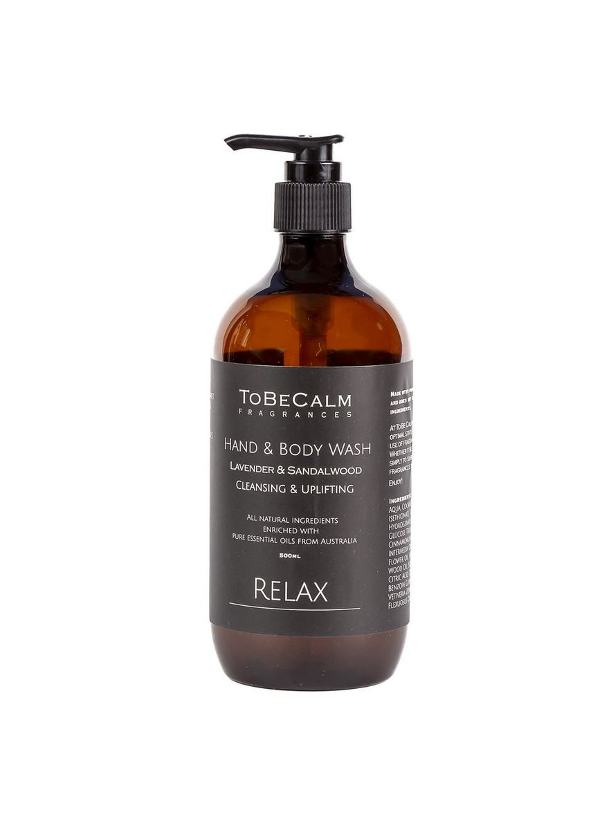 Brown color Body Wash . To Be Calm Relax - Lavender & Sandalwood - Hand & Body Wash -