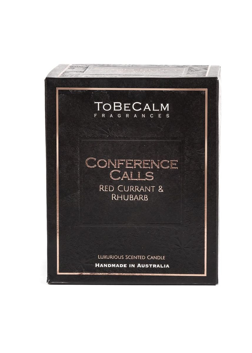 Black color Home Decor . To Be Calm Conference Calls - Rhubarb & Red Currant - Luxury Large Soy Candle -