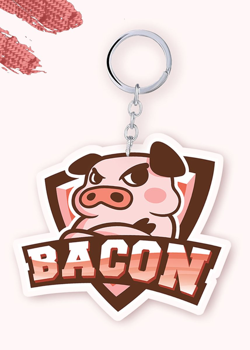 No Color color Toys . Bacon Time - Team Logo Keychain -
