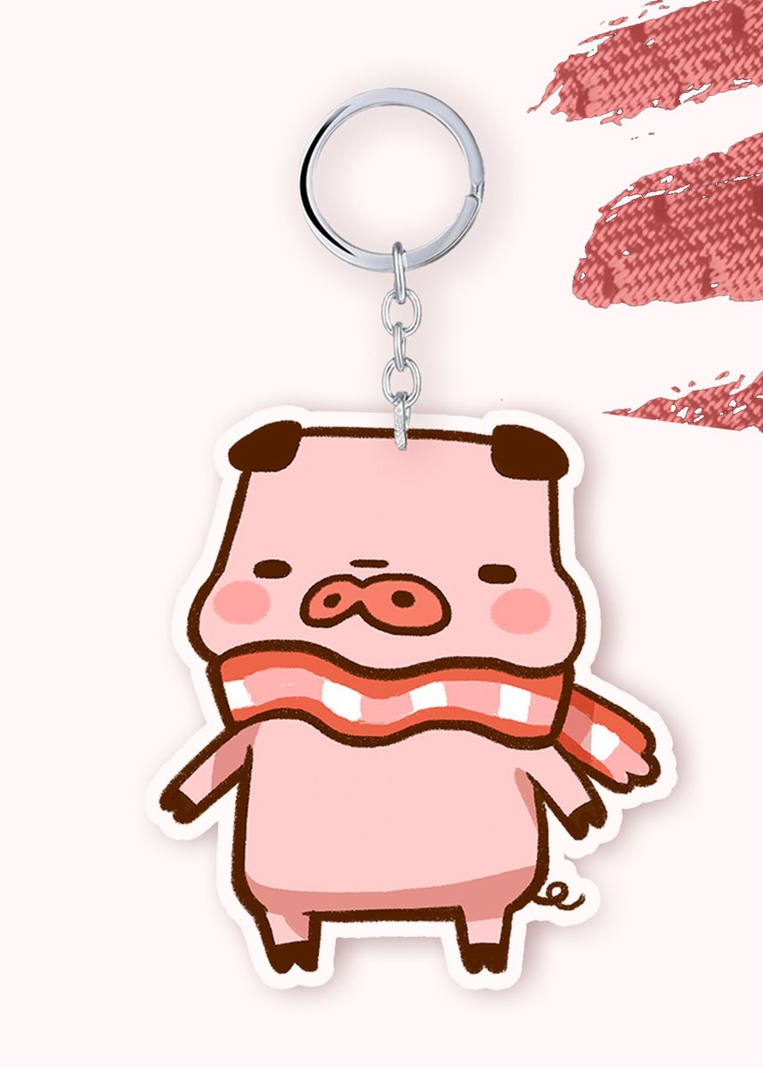 No Color color Toys . Bacon Time - BEC Standing Keychain -