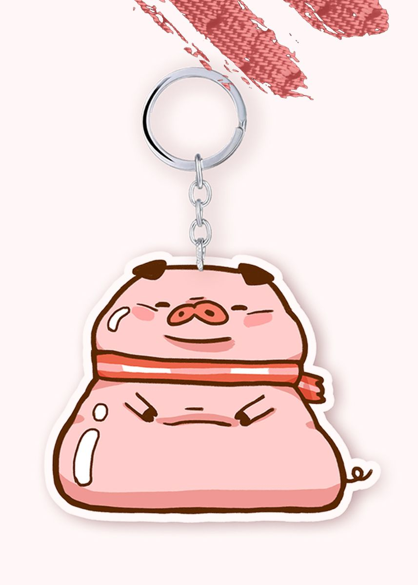 Multi color Toys . Bacon Time - BEC FAT Keychain -