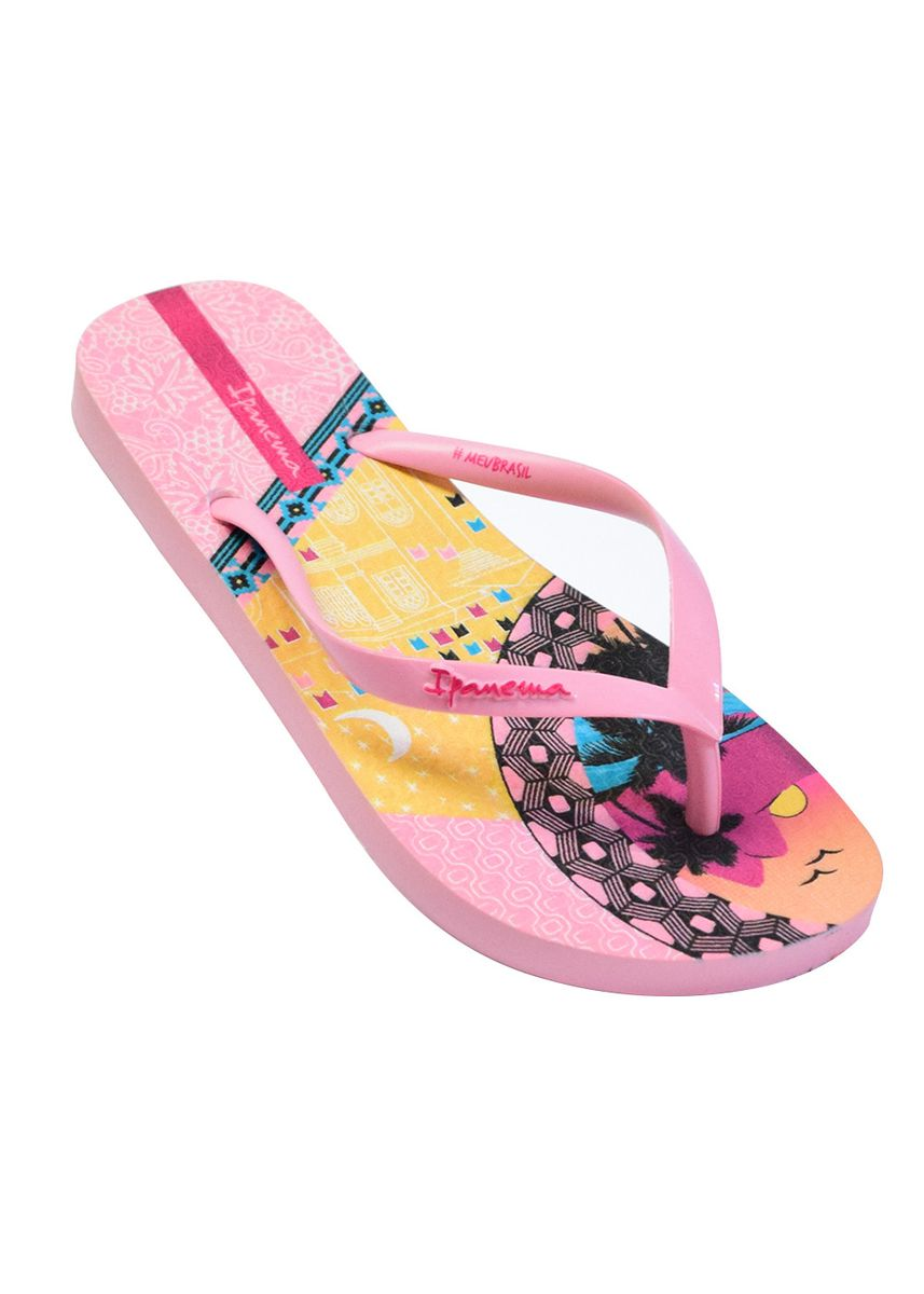 Pink color Sandals and Slippers . Ipanema Meu Brasil Feminine Slippers -